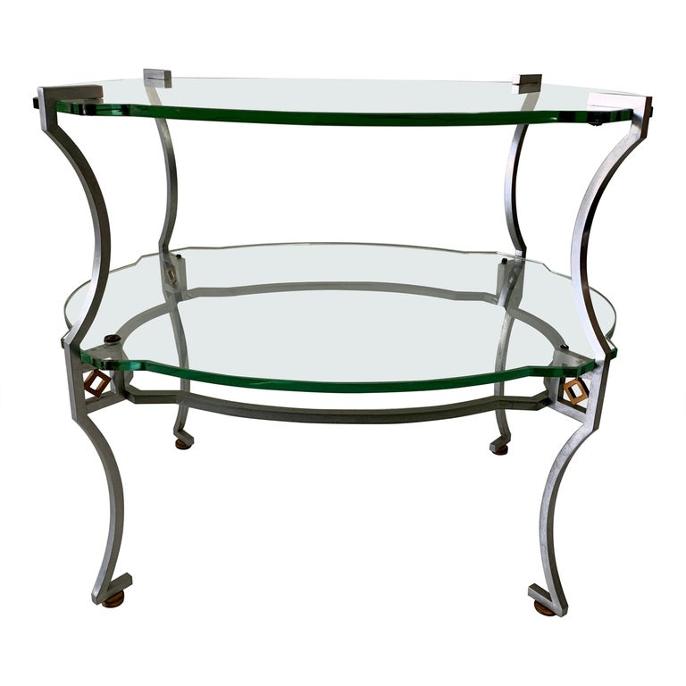 American Art Deco Two-Tier Sidetable For Sale