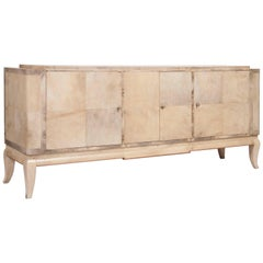 American Art Moderne Parchment Covered Credenza