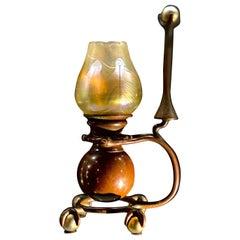 "American Art Nouveau ""Gimbal"" Candlestick by Tiffany Studios"
