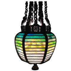 American Art Nouveau Moorish Geometric Lantern by Tiffany Studios