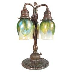 American Art Nouveau Newel Post Table Lamp by, Tiffany Studios