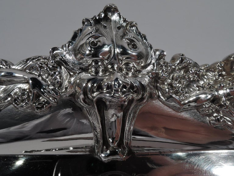 American Art Nouveau Sterling Silver Pen Tray with Lorelei Nymphs In Excellent Condition In New York, NY
