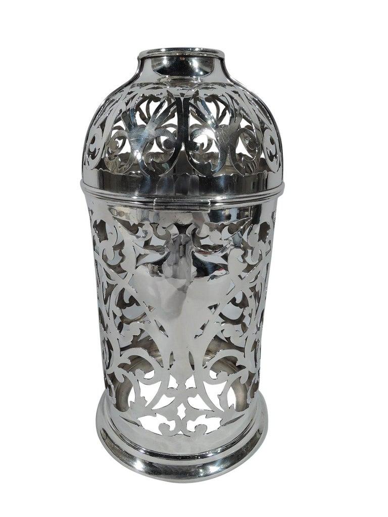 American Art Nouveau Sterling Silver Wine Bottle Holder