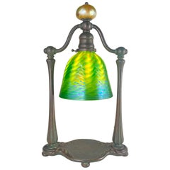 "American Art Nouveau Tiffany Favrile ""Bell"" Desk Lamp by Tiffany Studios"