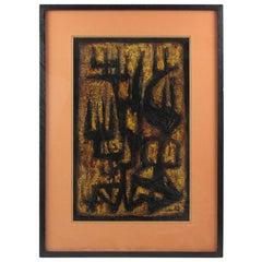 American Artist Canthi 1961 Modernist Brutalist Mix-Media Painting