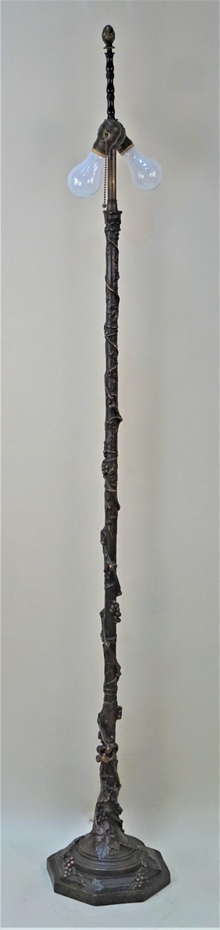 American Arts & Crafts Copper Floor Lamp For Sale 4