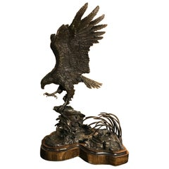 American Bald Eagle Bronze by Lorenzo Ghiglieri, Sold Out Edition #14/35, 1976
