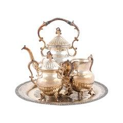 American Birmingham Silver Company Three-Piece Tea Set, circa 1960