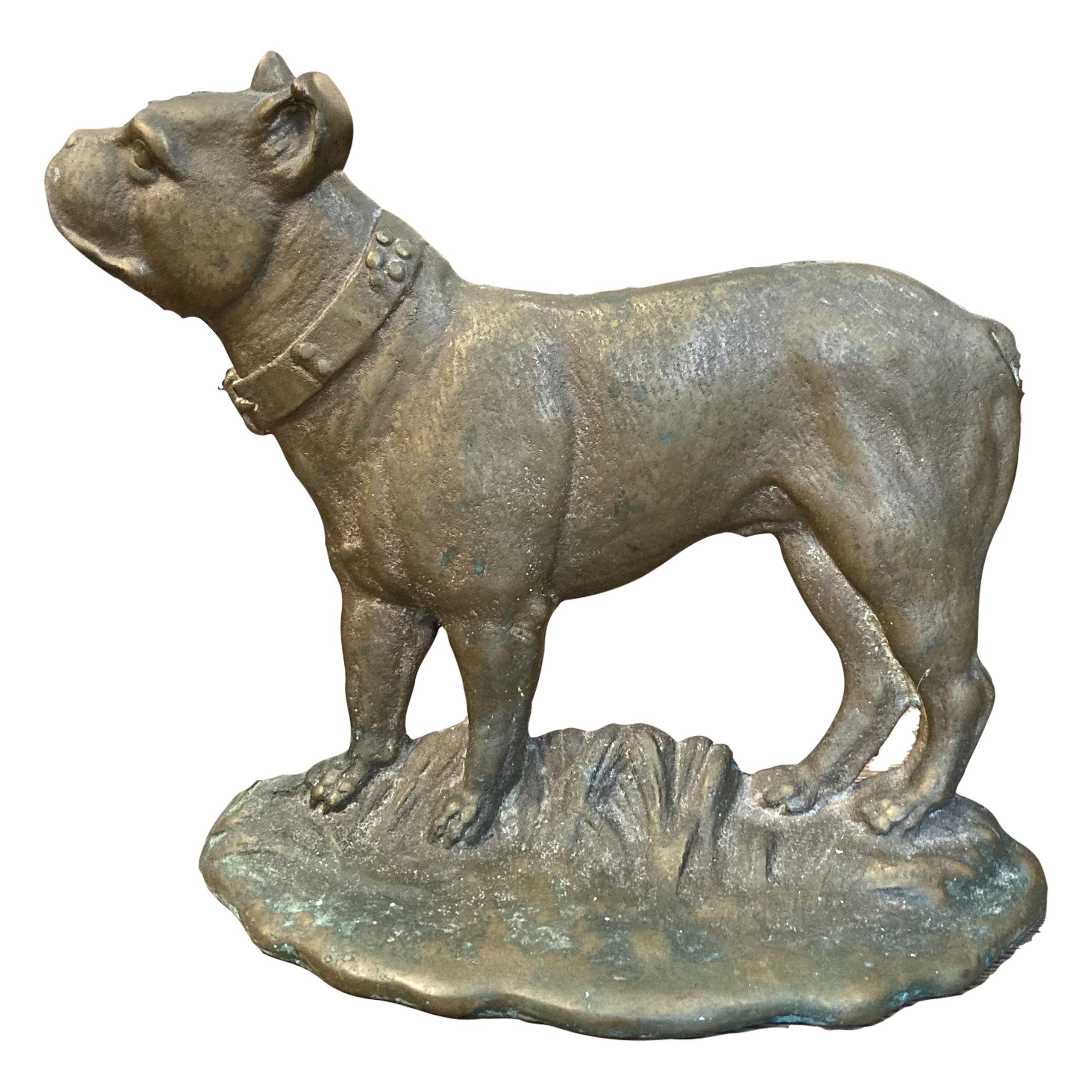 American Brass Bull Dog Doorstop