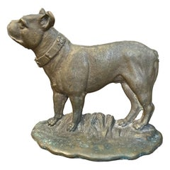 American Brass Bull Dog Doorstop