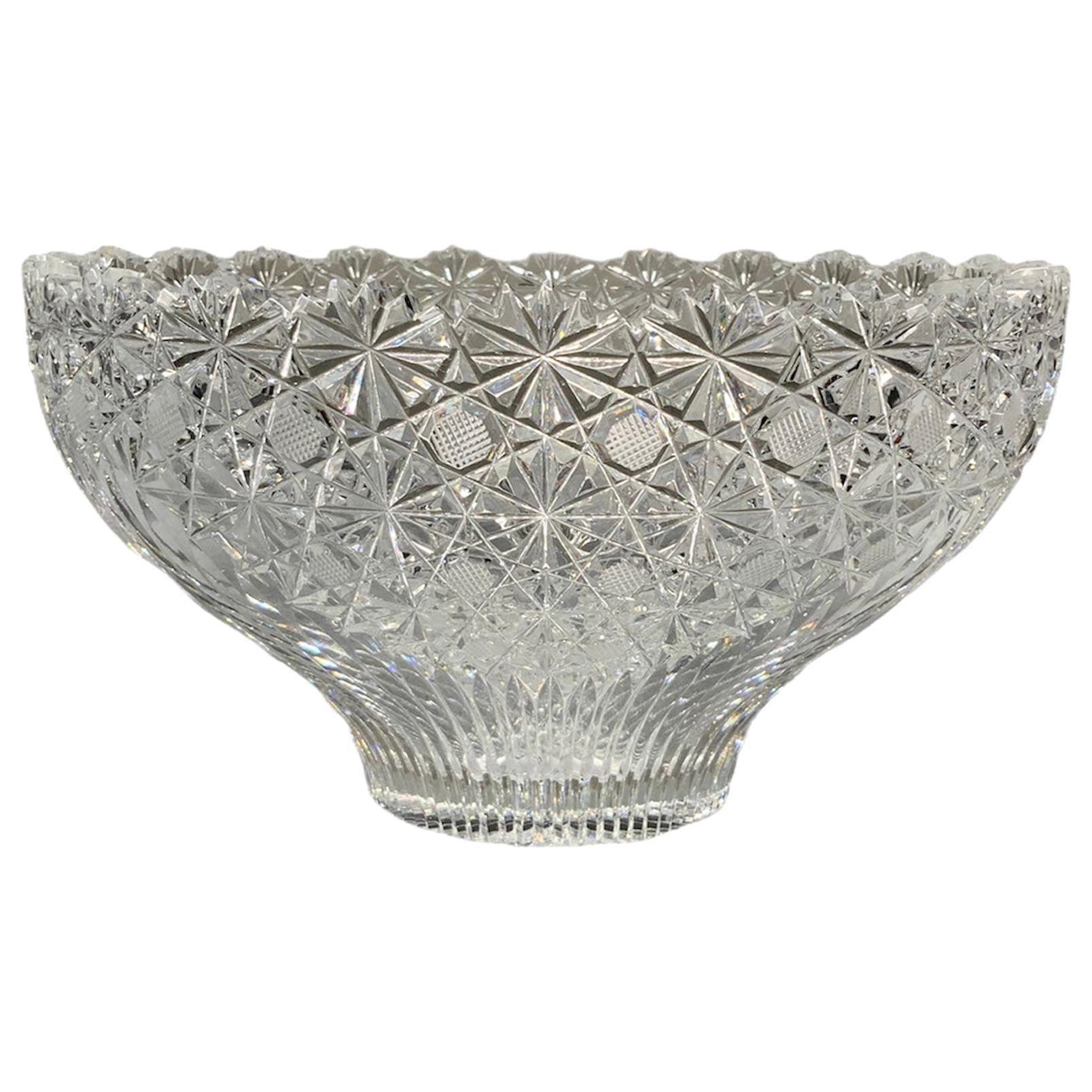 American Brilliant Cut Glass Crystal Bowl