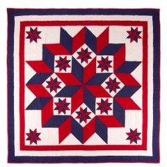 American Broken Star Pattern Quilt, Lancaster County Pennsylvania
