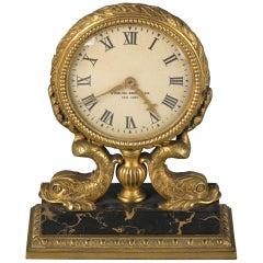American Bronze and Marble Desk Clock, Sterling Bronze Co., circa 1900