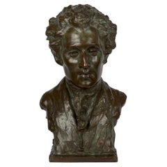 """American Bronze Sculpture """"Bust of Mozart"""" by Edith Lichtenstein & Gorham"""