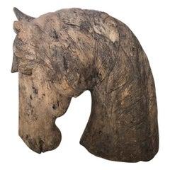 American Carousel Carved Horse Head, circa 1890