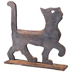 American Cast Iron Boot Scraper in the Form of a Cat, Household Patent Co.