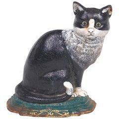 American Cast Iron Cat Door Stop in form of a Cat