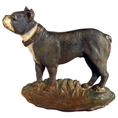 American Cast Iron Doorstop in the Form of a Boston Terrier Known as Dandy