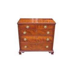 American Cherry Chest of Drawers With Fluted Quarter Columns. VA, Circa 1780
