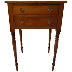 American Cherry Sheraton 2-Drawer Stand All Original Including Hardware