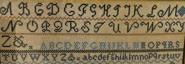 Needlework American Sampler, Circa 1928 by