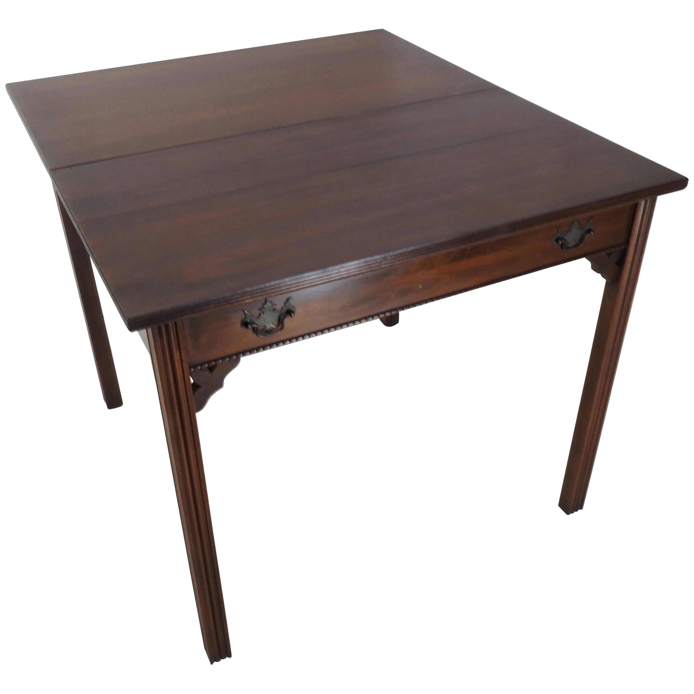 American Chinese Chippendale Style Game Table