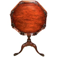 American Chinese Chippendale Tripod Tilt Top Table - Co. of Master Craftsmen