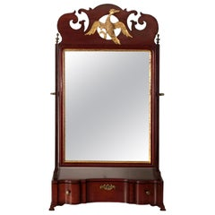 American Chippendale Mahogany Serpentine Dressing Shaving Mirror, circa 1790