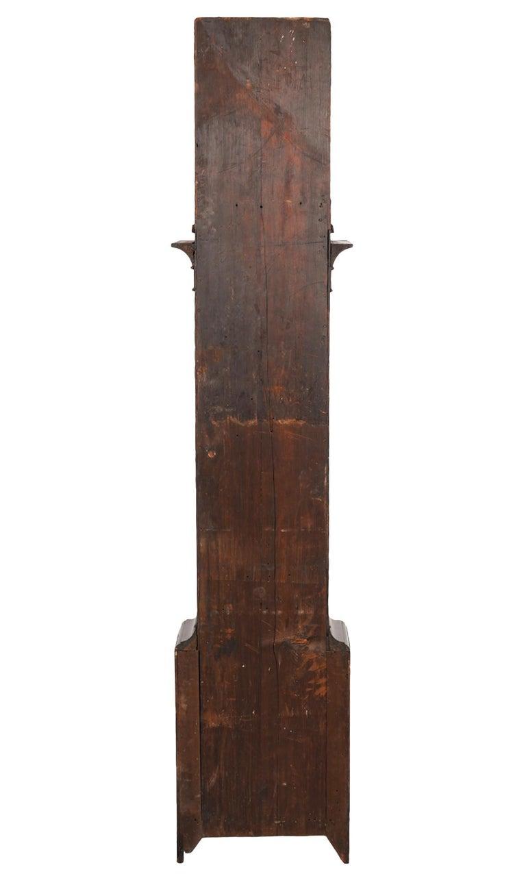American Chippendale Mahogany Tall Case 8 Day Mahogany Clock, circa 1830 For Sale 2