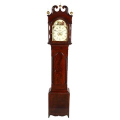 American Chippendale Mahogany Tall Case 8 Day Mahogany Clock, circa 1830