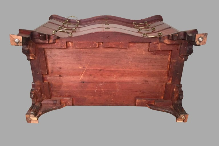 American Chippendale Period Mahogany Serpentine Four-Drawer Chest For Sale 1