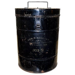 American Civil War Era Black Metal Ballot Box by Geo Barnard & Company, 1800s