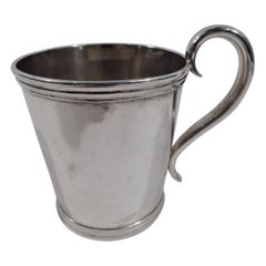 American Classical Coin Silver Baby Cup by Aaron Lufkin Dennison of Boston