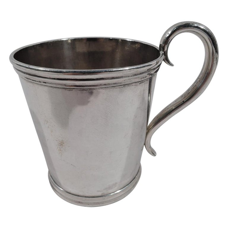 American Classical Coin Silver Baby Cup by Aaron Lufkin Dennison of Boston For Sale