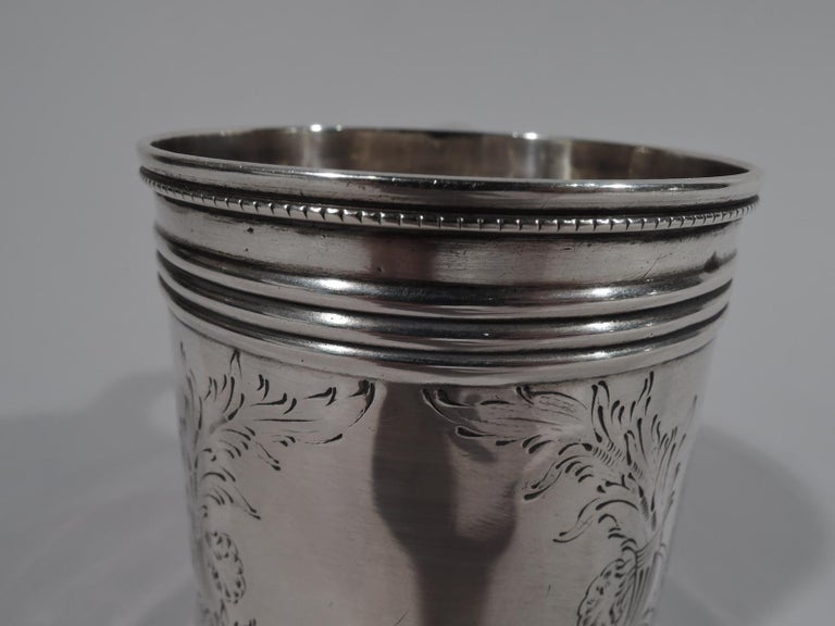 American Classical Coin Silver Baby Cup by Gale, Woods & Hughes In Good Condition For Sale In New York, NY