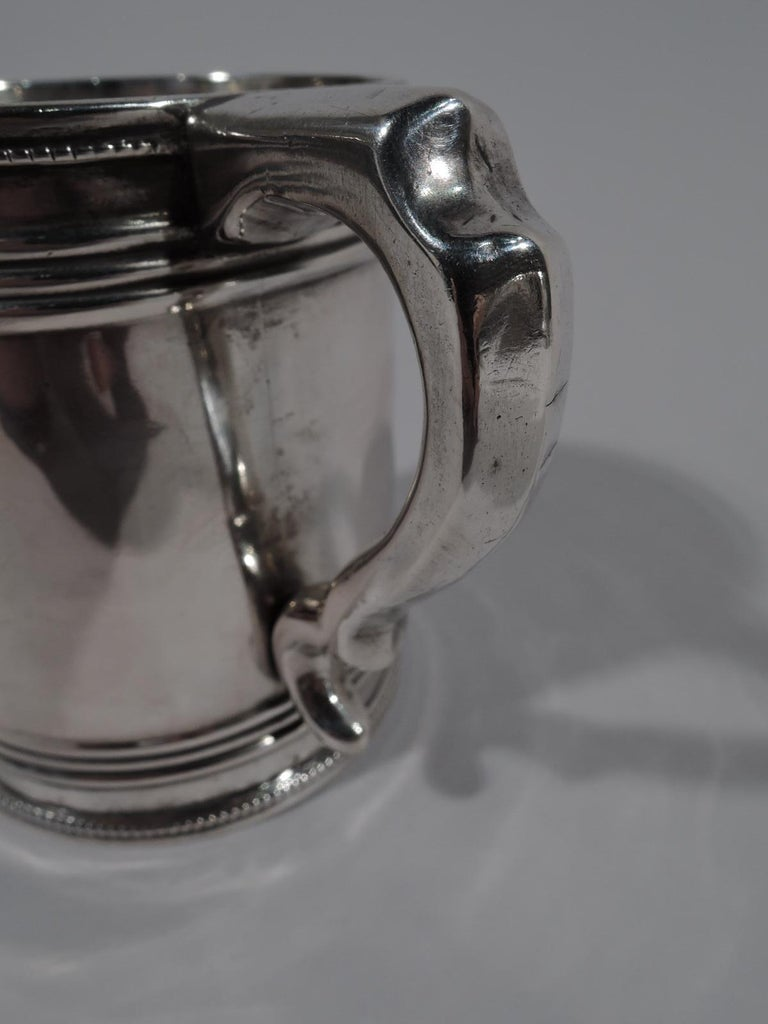 American Classical Coin Silver Baby Cup by Gale, Woods & Hughes For Sale 1