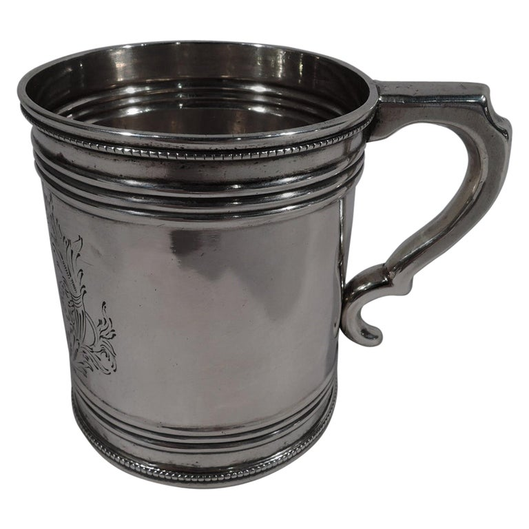 American Classical Coin Silver Baby Cup by Gale, Woods & Hughes For Sale