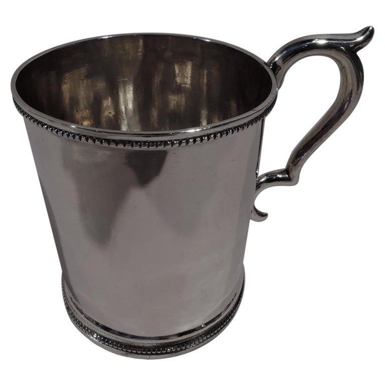 American Classical Coin Silver Baby Cup by Illinois State Society For Sale