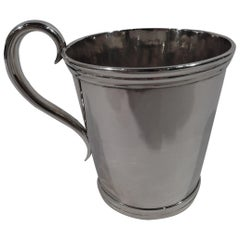 American Classical Coin Silver Baby Cup by Lincoln & Foss of Boston
