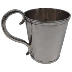 American Classical Coin Silver Baby Cup by Lincoln & Reed of Boston