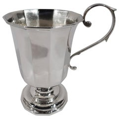 American Classical Coin Silver Baby Cup by New York Maker