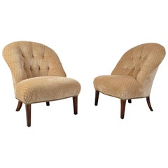 American Classical Edward Ferrell Tufted Slipper/Lounge Chairs