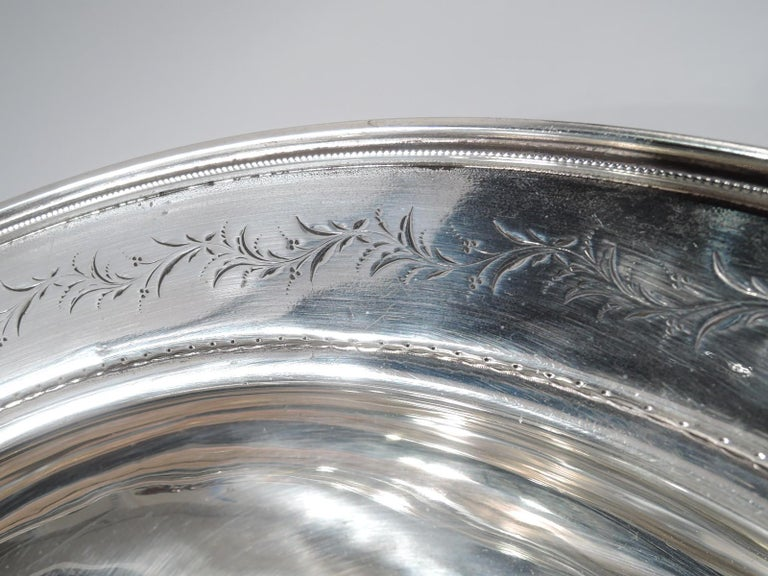 American Classical Sterling Silver Medallion Centerpiece Bowl For Sale 1