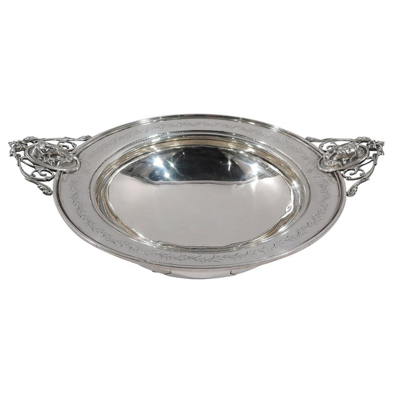 American Classical Sterling Silver Medallion Centerpiece Bowl For Sale