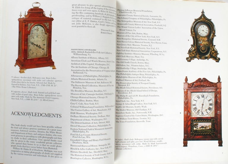American Clock, a Comprehensive Pictorial Survey, First Edition In Good Condition For Sale In Kinderhook, NY