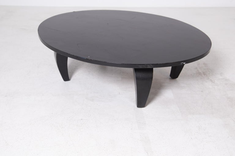 American Coffee Table in Black Wood, 1950s In Good Condition For Sale In Milano, IT