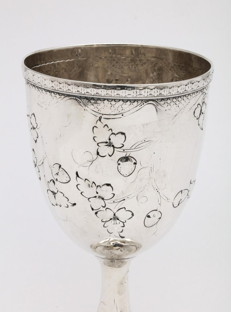 American Empire American Coin Silver '.900' Goblet by Peter L. Krider For Sale