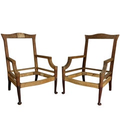 American Colonial Revival Mahogany Armchairs