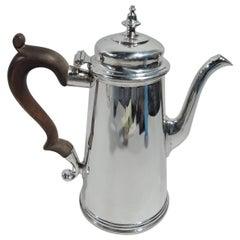 American Colonial Style Silver Coffeepot by Ensko