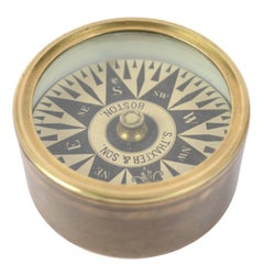 American Compass Placed in Its Original Box of Turned Brass
